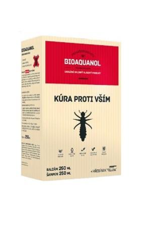 Bioaquanol kúra proti vším - Šampon 250 ml + Balzám 250 ml + hřeben